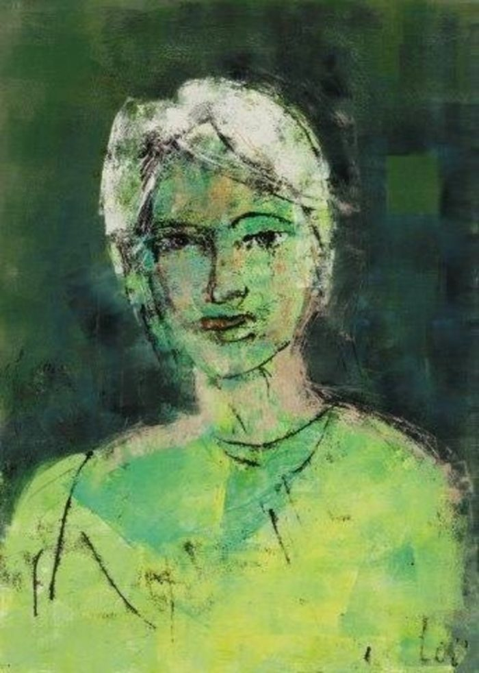 Portrait II, (Green) 2015, SOLD